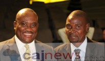 MTN Nigeria CEO, Mr Michael Ikpoki with CAJ News Africa Group CEO, Mr Savious-Parker Kwinika