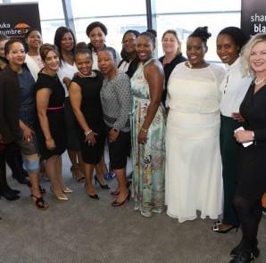 L to R: Karabo Nondumo(KM Tech), Shobana Singh(Vodacom), Lebogang Shole(Vodacom), Doris Mpela(IDC), Thabile Nyaba(SBU Board Member), Seapei Mafoyane (SBU CEO), Thabi Leoka(Argon Asset Management), Lesley McKnight(Jenna Clifford) PHOTO:Supplied