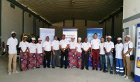 Engen Mocambique MD and staff at the new Nacala depot .IMAGE SUPPLIED