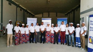 Engen Mocambique MD and staff at the new Nacala depot