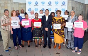 Thirteen charities, the latest beneficiaries of the Volkswagen for Good initiative. Front Row from L-R: Ralph Meintjes, Crystal Meintjes, Lindelwa Mavuso, Nocawa Sinam, Vernon Naidoo, Nobuzwe Mofekeng, Catherine Hendricks, Maureen Lamb, Back Row from L-R: Rev Mlamli Mani, Gcobani Zonke, Trevor Long, Jill Mclellan, Thobeka Mduduma,  Misiwe Ngqondela