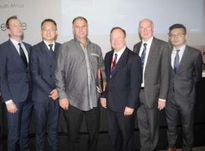 Huawei executives during announcement of openlab in Johannesburg Image: Gi ft Ndolwane