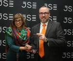Left to Right : Donna Nemer, Director of Capital Markets at the Johannesburg Stock Exchange; Steven Herring, CEO of Heriot REIT Limited.