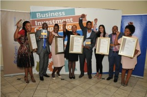 Company representatives of category winners at the Eskom Business Foundation 2017 Business Investment Competition IMAGE PROVIDED