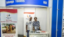 Left: Hope Makhavhu at the Small Business Expo in Johannesburg