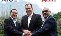 Kevin Hardy, AYO CEO and Khalid Abdulla (outgoing executive chairman) immediately after joining AYO Technology Solutions
