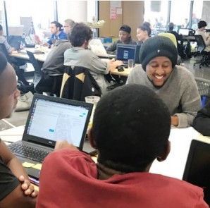End of term hackathon at codeX Coding Academy in Cape Town
