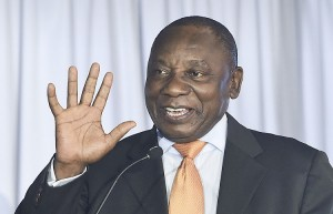 South African deputy president Cyril Ramaphosa