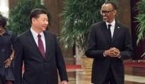 Jinping with Rwandan counterpart Paul Kagame