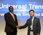 James Gordon Kwanya Rege, CBS,Chairman of Kenya Electricity Transmission Co. Ltd., and Joe Zhou, Vice President of Huawei Transport Network Product Line