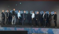 Huawei and industry partners at the launch of Huawei Cloud, Pic supplied