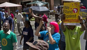 African Diaspora Forum (ADF) members protest against violent xenophobia in South Africa