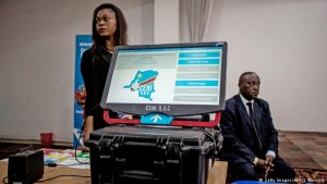 DRC electronic voting technology. Photo supplied