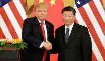 United States president Donald Trump with his Chinese counterpart Xi Jinping