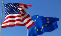 European Union (EU), United States of America (USA) flags