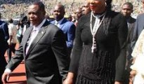Zimbabwe vice president Contstantino Chiwenga and wife Mary, photo ZimLive