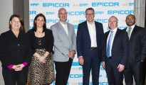 Chantell Ilbury, Rachel Clayton, Stuart Scanlon, Andy Coussins, Paul Flannery and Hesham Elkomy at Epic ERP Summit. Photo by Mthulisi Sibanda, CAJ News Agency