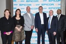 Chantell Ilbury, Rachel Clayton, Stuart Scanlon, Andy Coussins, Paul Flannery and Hesham Elkomy at Epic ERP Summit. Photo by Mthulisi Sibanda, CAJ News Agency
