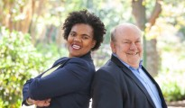From left, Thuli Mgwebile, business development agent at GECI South Africa and Mike Bergen, GECI representative in South Africa
