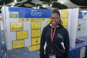 Phoebe Mgxaji from Macassar Secondary School in Macassar in the Stellenbosch region, Western Cape