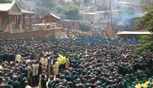 ZCC followers gathered at their church headquarters in Moria, Limpopo province, South Africa as they commemorate the death and resurrection of Lord Jesus Christ