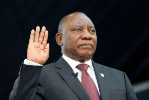 Newly inaugurated South African President Cyril Ramaphosa promises