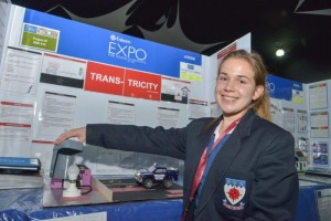 One of the most brilliant South African young scientists to represent the country at the Intel International Science and Engineering Fair (ISEF) in Phoenix, Arizona, United States Keira van Niekerk poses for a photo.