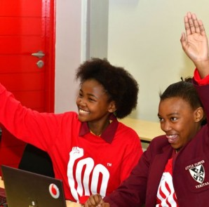 Participants at a Code like a Girl initiative