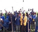 Enterprising Mpumalanga black farmer David Lesesa's farm employees pose for a photo. Picture by Anna Ntabane, CAJ News Agency