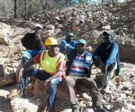 Some of the miners relaxing at the amethyst minefield at Phahlela, Gezani in Chikombedzi under Chief Sengwe. Photo by Patrick Chitongo, CAJ News Africa