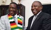Zimbabwean president Emmerson Mnangagwa and his South African counterpart Cyril Ramaphosa