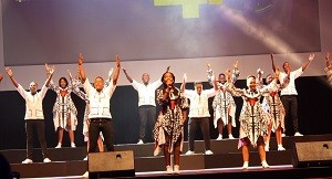 The Ndlovu Youth Choir performing at the GovTech 2019 conference in Durban