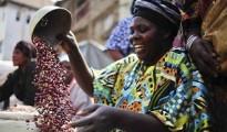 DRC woman selling beans 1