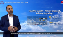 George Thabit Ayad Thomas speaking at the Huawei Cloud Summit Africa 2020
