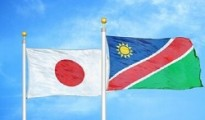 Japan, Namibia flags