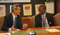Songtian Lin, Ambassador Extraordinary and Plenipotentiary, during a meeting with CDC executives