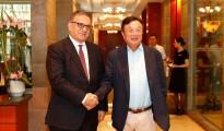 L-R Huawei Founder, Ren Zhengfei and Dr Erdal Arikan