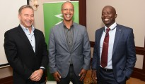 From left-to-right are SEACOM Chief Executive Officer Byron Clatterbuck (left), Microsoft Country Manager Sebuh Haileleul and SEACOM Managing Director EMEA Region Tonny Tugee. Photo by Maria Macharia, CAJ News Kenya Bureau